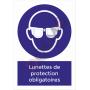 Lunettes de protection obligatoires - PANNEAU NF EN ISO 7010