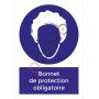 Bonnet de protection obligatoire - PANNEAU NF EN ISO 7010