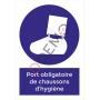 Port obligatoire de chaussons d'hygiène