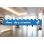 MERCI DE PATIENTER - 100x15cm - VINYLE SOL ANTIDERAPANT